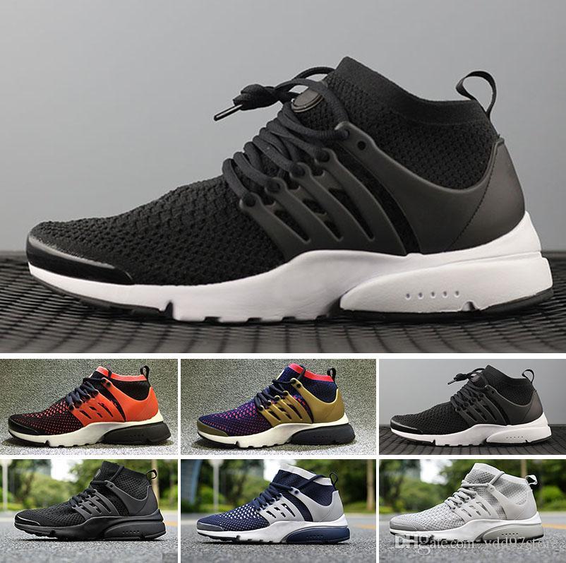 afd69cbc42 Großhandel Nike Air Presto Ultra Flyknit Olympic Freies Verschiffen 2018  Neue Qualitäts Schwarz Weiß Mens Frauen Entgehen Hohe Schuhe Im Freien  Gehende ...
