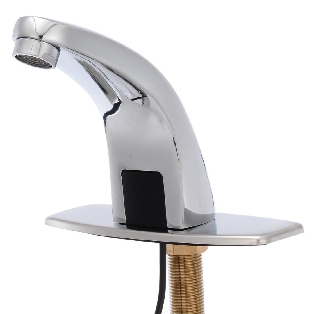 Lavabo Manos.Manos Libres Infrarrojo Grifo De Agua Lavabo Automatico Grifo Mezclador De Lavamanos Sensor Grifo Bano Hardware Mayitr