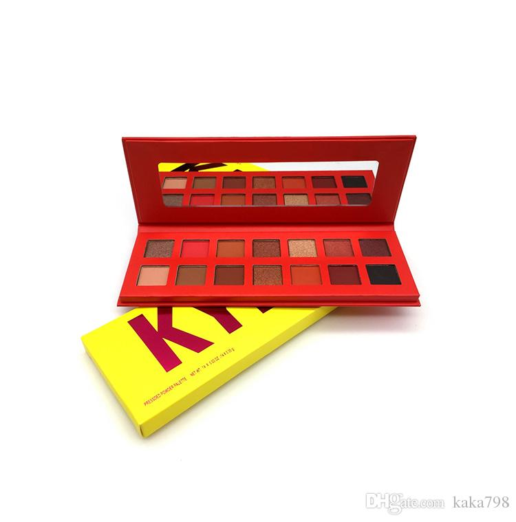 Hot sale kylie Cosmetics The Summer makeup Brand The Summer Palette 14colors eyeshadow Plalette Banana Eye Shadow Palette free shipping