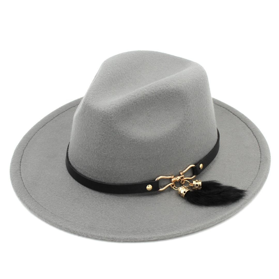 77fda62bb9c New Fashion Men Women Wool Blend Panama Cap Top Hat Outdoor Wide ...