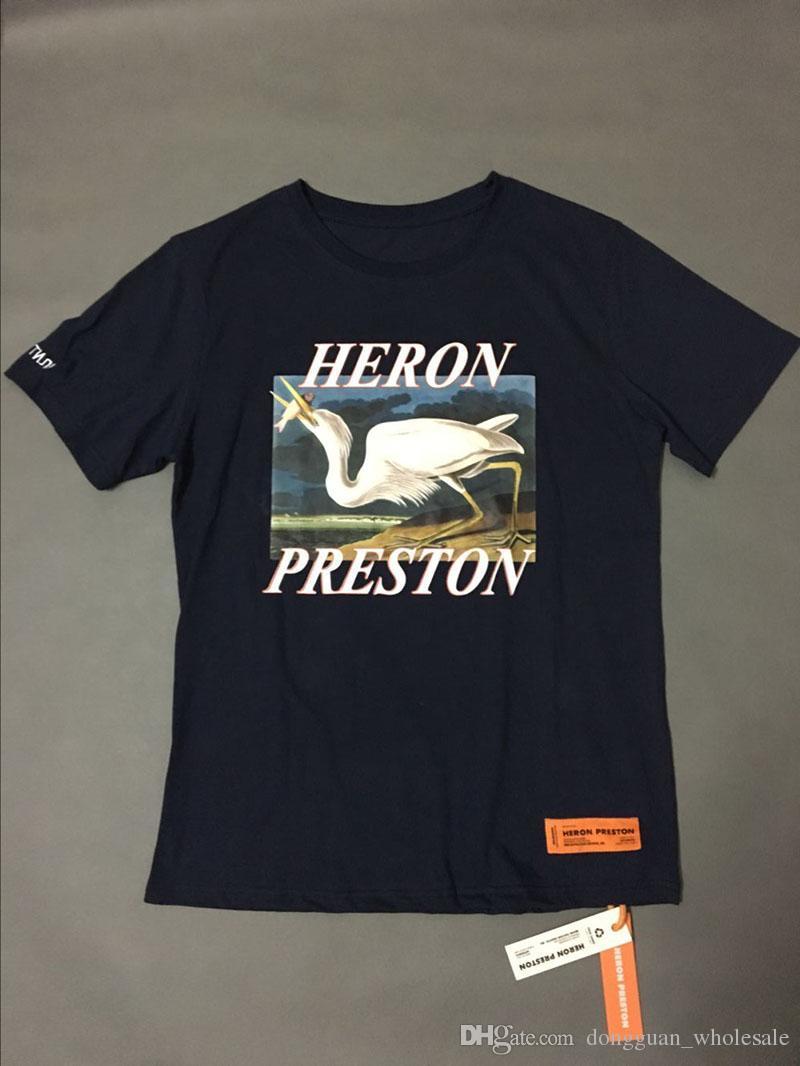 1: 1a Estilo de verano Heron Preston T-Shirt Hombres Mujeres Algodón de alta calidad Heron Preston Tee Hip Hop Streetwear Heron Preston Camiseta