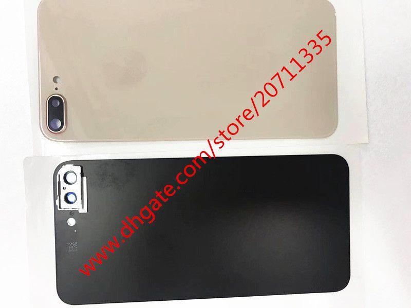 10 adet OEM Bir kalite sticker ile 2018 YENI YENI Arka Arka Kapak Pil Konut Kapı cam iPhone 8/8 artı geri cam