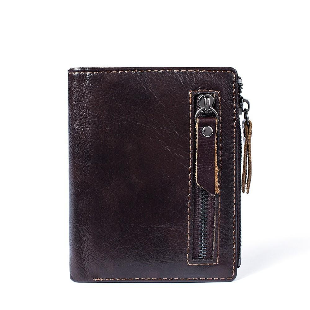 Fashion RFID Blocking Men Wallets Cow Genuine Leather Wallet Male Handmade Custom Dollar Price Coin Purse Short Wallet carteira