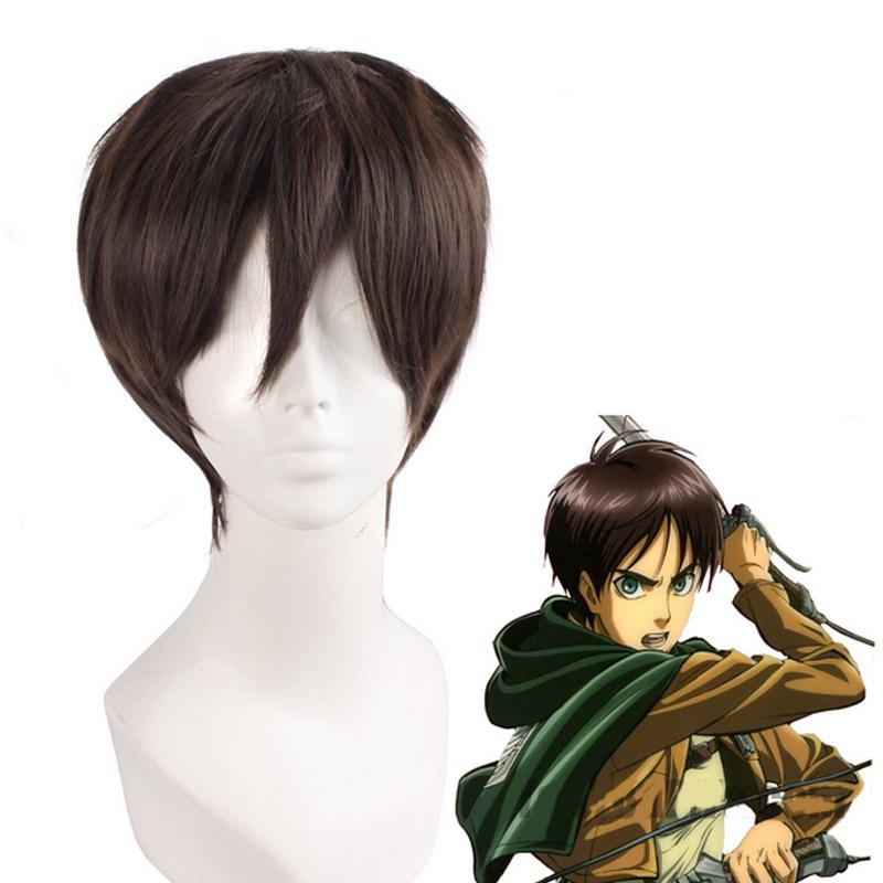 Coshome Shingeki No Kyojin Attack On Titan Wigs Mikasa Levi Sasha Eren Cosplay Costume Black Yellow And Brown Short Hair