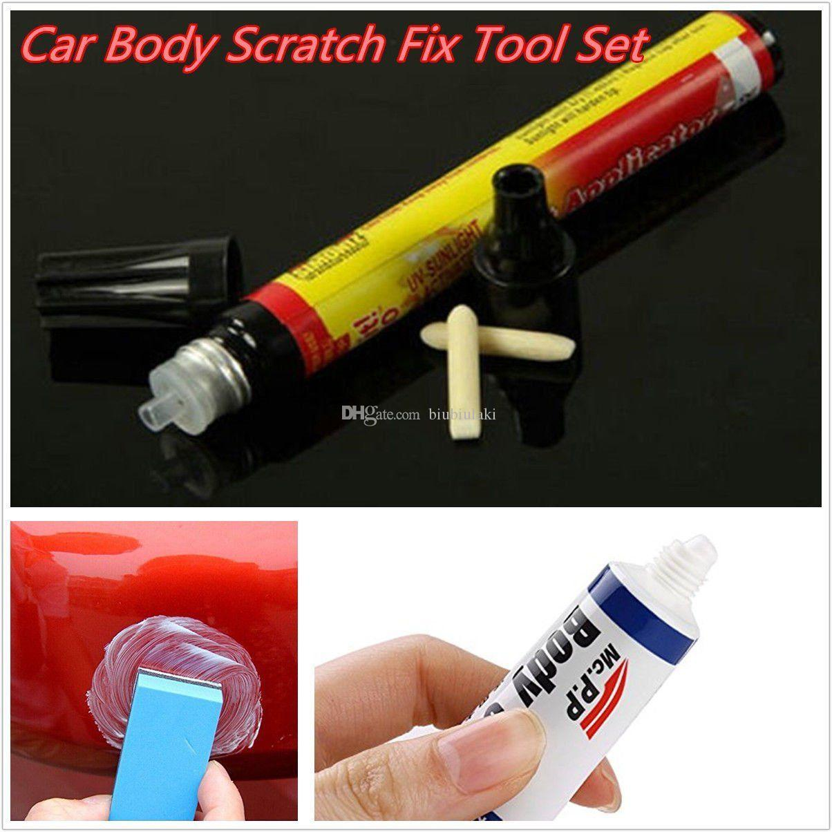 Fix Car Body Scratch Repair Paint Pen Clear Coat Pen + Abrasivos para todos los colores Envío gratis