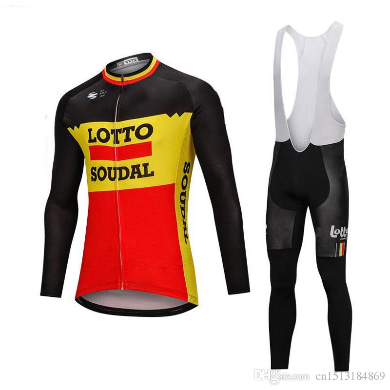 183231d26 2019 Pro Team Lotto Men S Winter Thermal Fleece Cycling Jersey 9D Gel Pad Bib  Pants Kit Ropa Ciclismo Invierno Bicycle Clothing Bike Jersey Bicycle Gear  ...