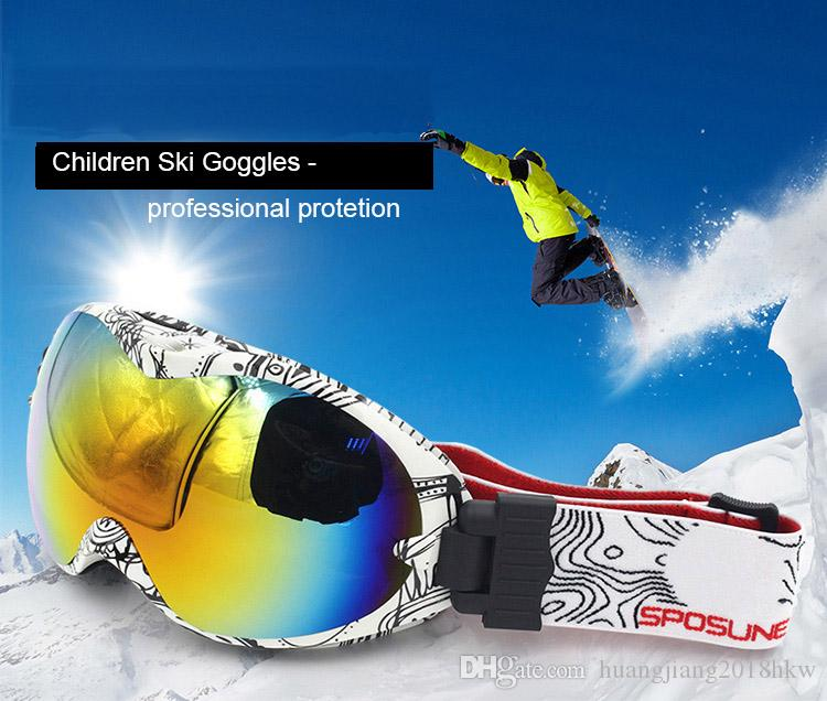 38d6f782e872 2019 Children Ski Goggles Helmet Compatible Snow Goggles Boys   Girls 100% UV  Protection Anti Fog From Huangjiang2018hkw