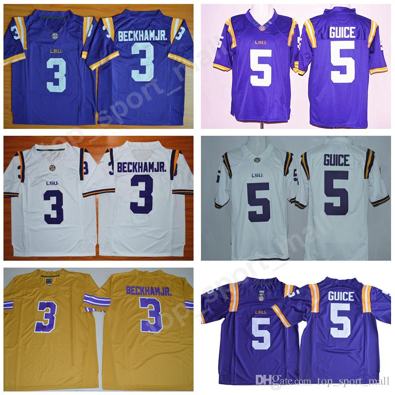 NCAA Men LSU Tigers College Jerseys Football 3 Odell Beckham Jr 5 Derrius  Guice 7 Leonard Fournette 7 Mathieu Stitched Purple Yellow White LSU Tigers  ... 62d098709
