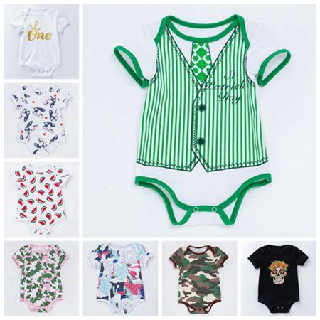 d4a0f8164f26 2019 EMS Free Unisex Baby Rompers Kids Jumpsuits Newborn Baby Boy ...