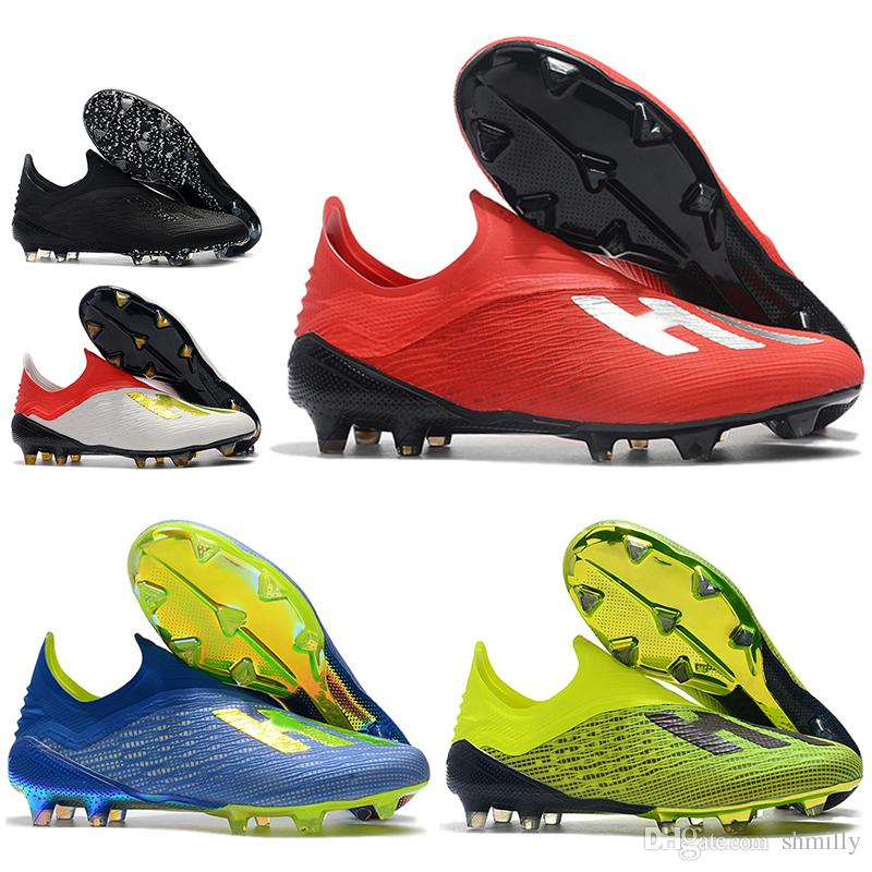 2018 World Cup Mens High Ankle Football Boots X 18 FG Soccer Shoes X 18+  Speedmesh X18 Speed Mesh Outdoor Soccer Cleats Sports Shoes Womens Shoes  From ... dafa0d2f3