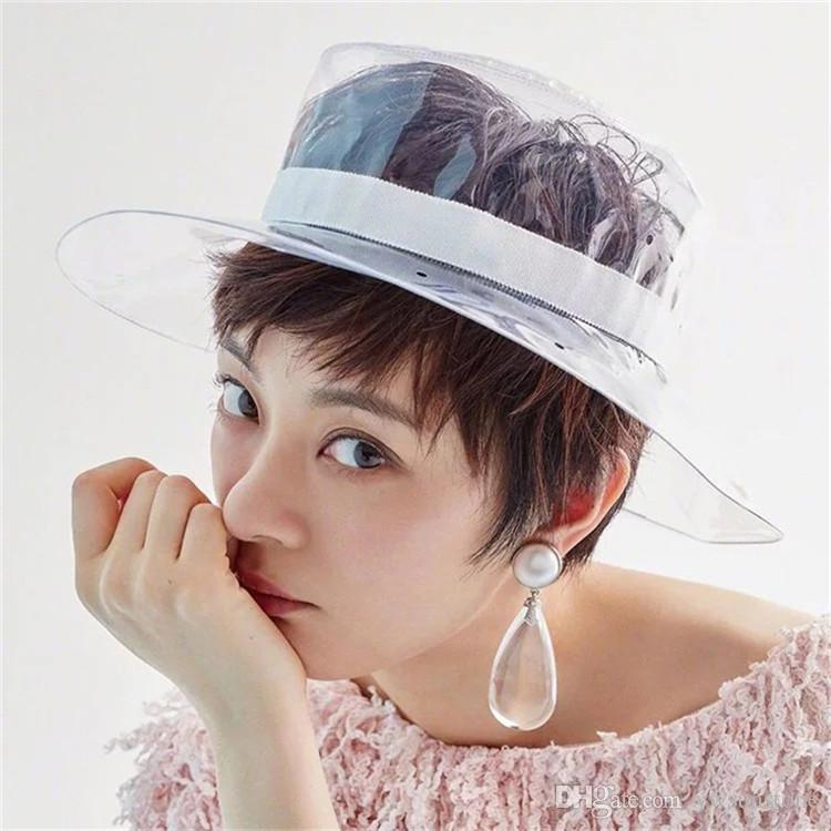 Sun Visor Hats for Women with PVC UV Protection Clear Wide hat Outdoor Sport Summer Beach Cap