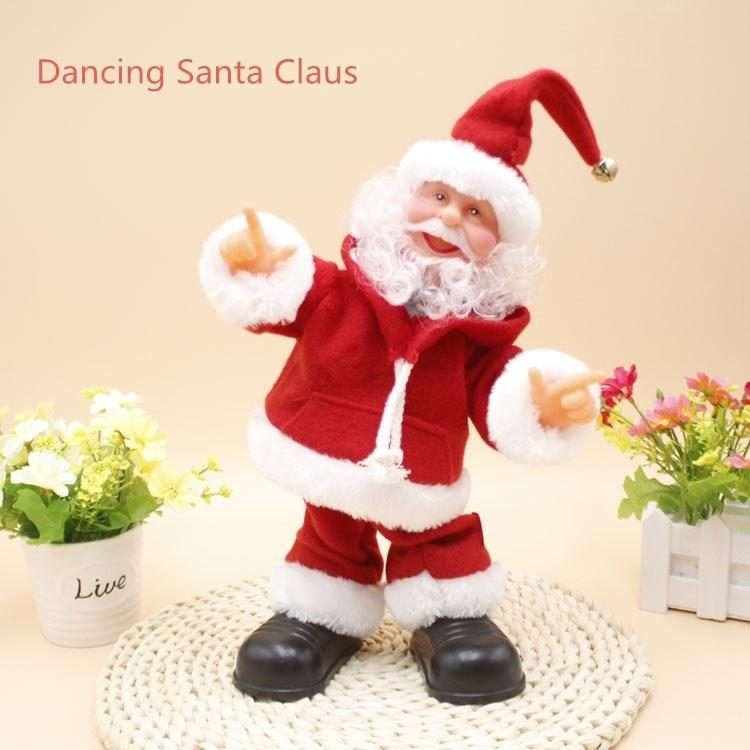 dancing santa claus 30 cm with music breakdance turn hat electric doll for children christmas gifts christmas decorations christmas ornament christmas gifts