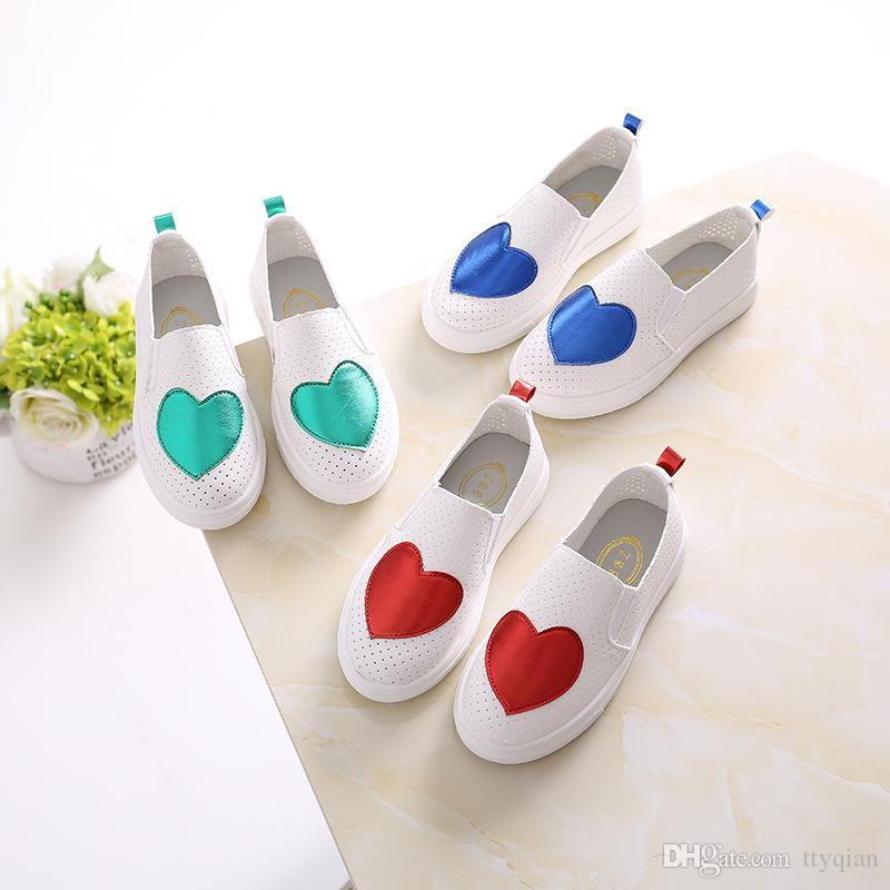 New 2019 Kids Baby Toddler Girls Children Slip On Sports Sneakers Shoes For  Girl Red Green Floral Breathable Hollow Casual School Shoes Tennis Shoes