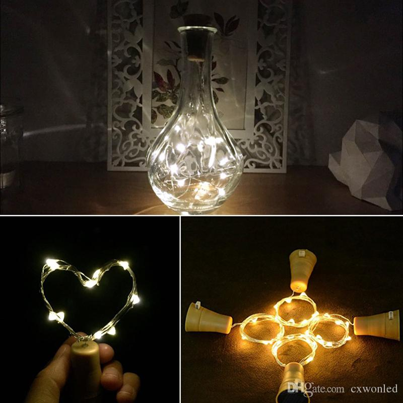 Solar Copper string Wine Bottle Stopper 1m 10LED Copper Fairy Strip Wire Outdoor Party Decoration Novelty Night Lamp