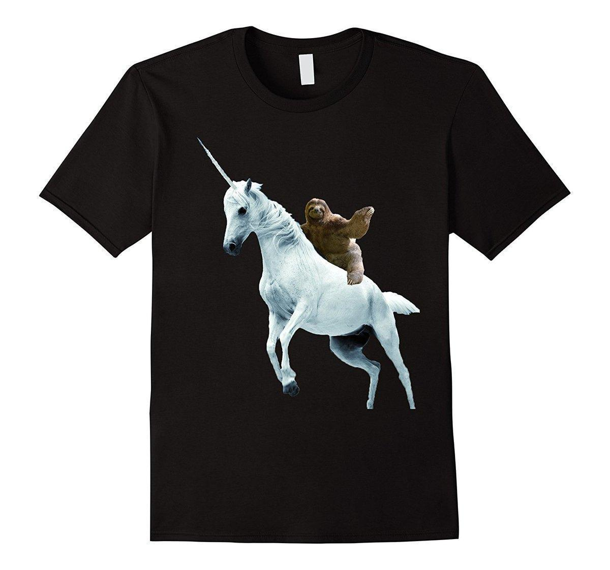 5ff0ecb6d2a0 Unicorn Sloth T Shirt Design Funny Animal Fashion T Shirt Hipster Cool Tops  Newest 2018 Fashion Stranger Things T Shirt Men Buy Tshirt Political Shirts  From ...