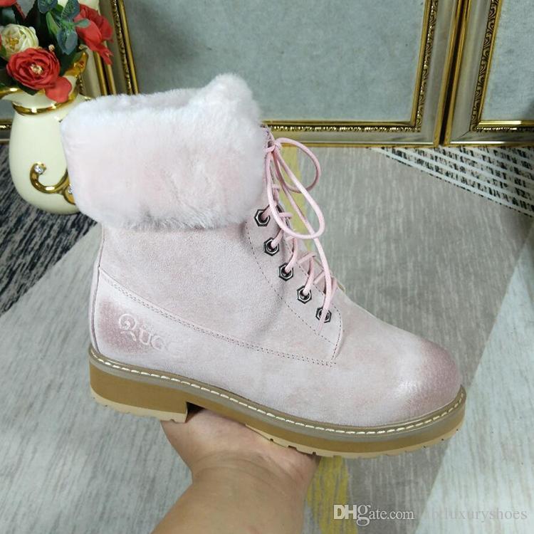 d1325cf32 Acheter Bottes De Neige De Luxe En Daim Femmes Chaussures D'hiver ...