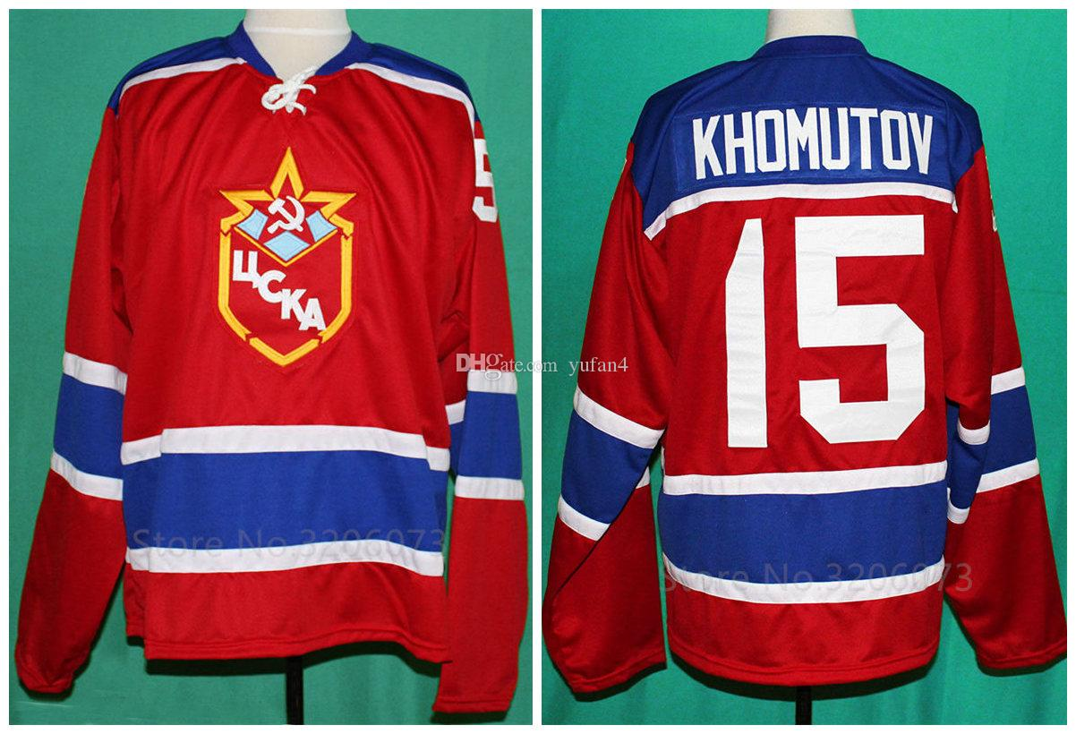 15 ANDREI KHOMUTOV TEAM RUSSIA USSR CCCP Retro Ice Hockey Jersey Mens  Stitched Custom Any Number And Name Jerseys UK 2019 From Yufan4 ad16eb4f04a