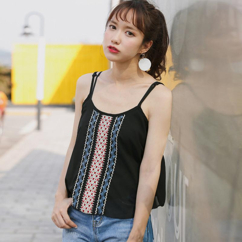 699629c84a4e1d 2019 Youg Hot Sale Cropped Tops Summer 2018 New Folk Style Camisole Female  Casual Striped Sleeveless Regular Loose Polyester Shirt From  Chenhanyang163, ...