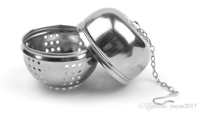 Bolas con sabores de utilidad de acero inoxidable genuino caliente / bolsas de filtro / Bolas de té / Utensilios de cocina / Coladores Coladores bola de colador de té