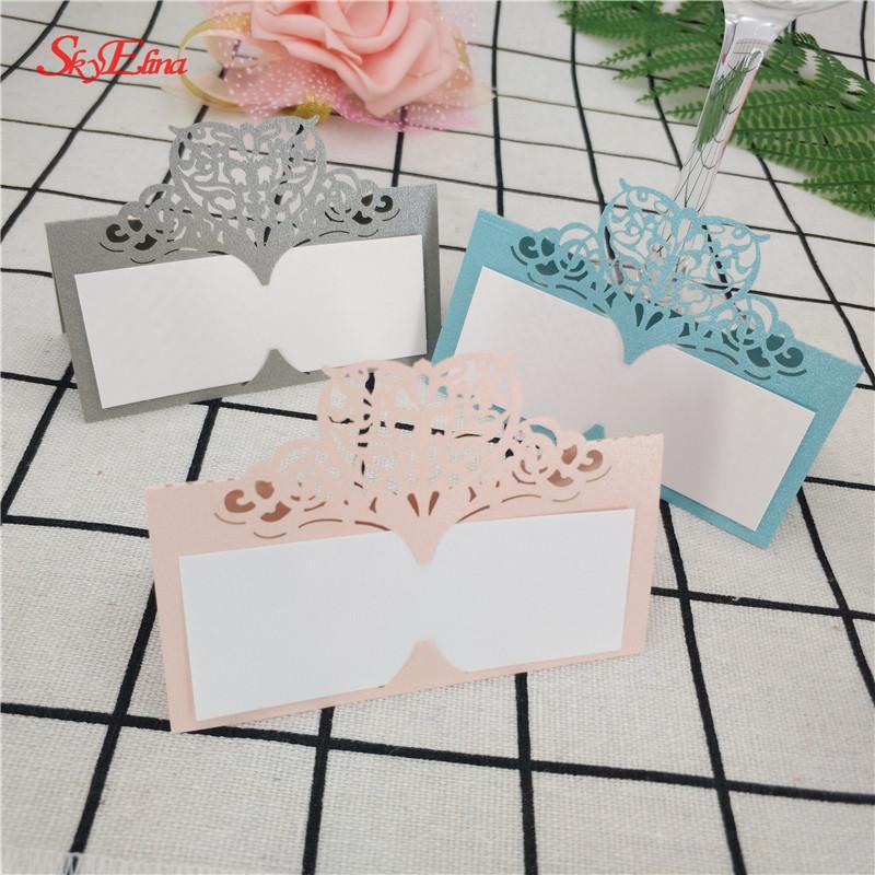 Grosshandel 100 Stucke Diy Laser Cut Tischkarten Hochzeit