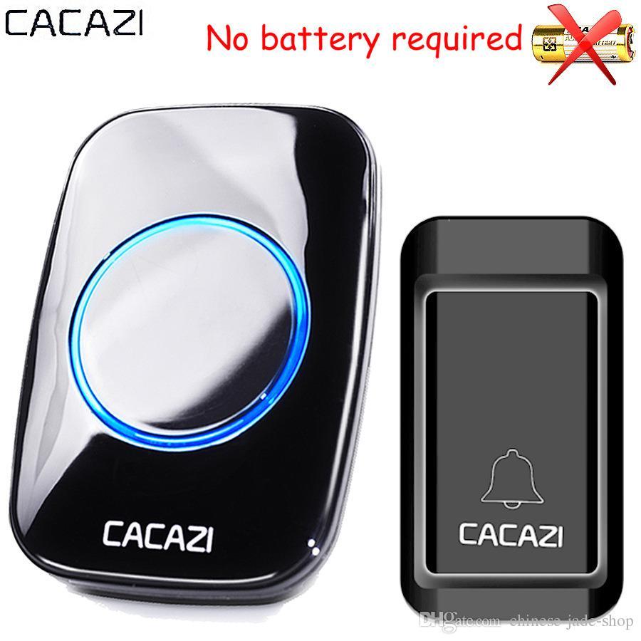 CACAZI A10G Waterproof Self-powered Wireless Doorbell Smart Home Door Bell Chime ring 1 Outdoor Transmitter + 1 Indoor Receiver