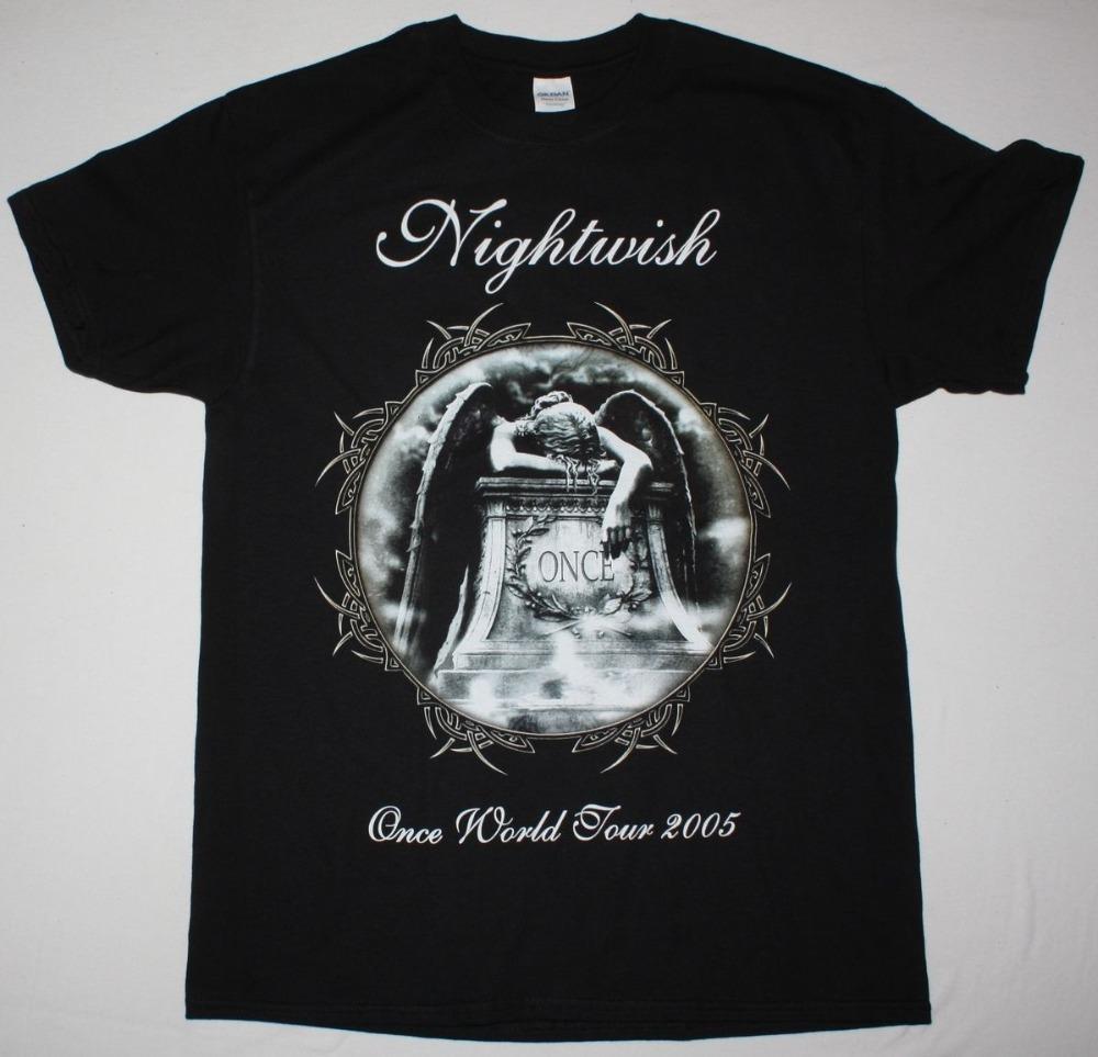 T Shirts Casual Nightwish Once Symphonic Metal Tarja Turunen Whitin  Temptation New Black T Shirt Short O Neck Office Tee For Men Cool Shirts  Formal Shirts ... 825e69e14f1