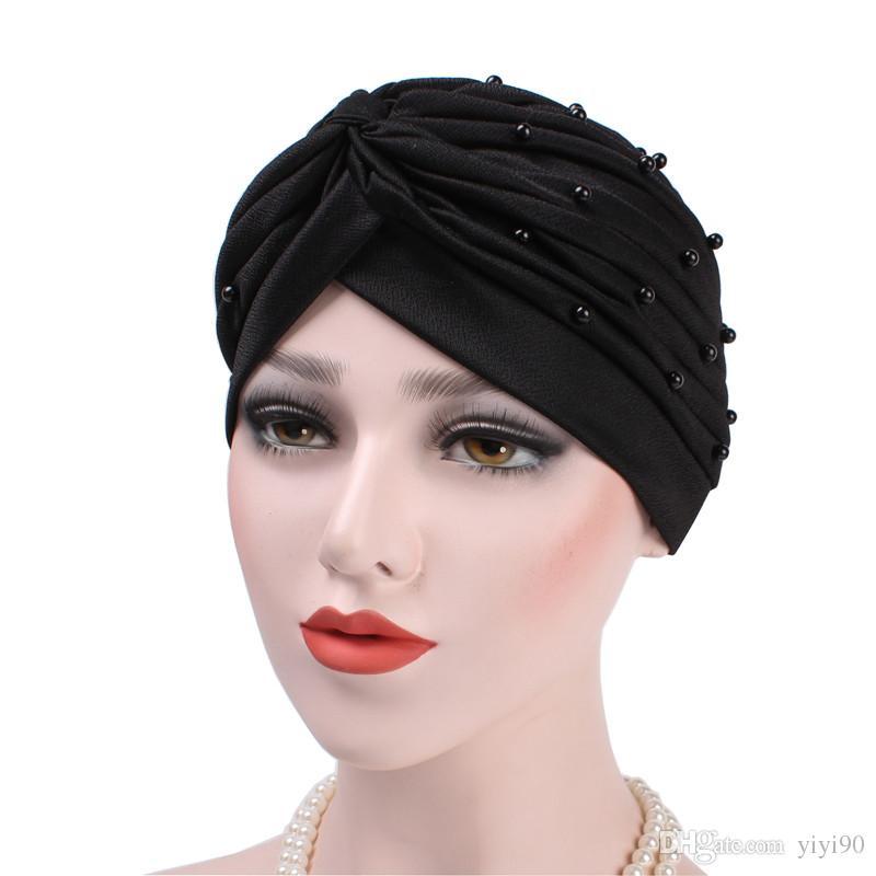 Muslim Luxury Woman Turban Headband Beaded Studded Pearled Extra Turban  Head Wraps Hijab Head Scarf Cancer Patients Hair Loss Trucker Hats Winter  Hats From ... dc60994596b