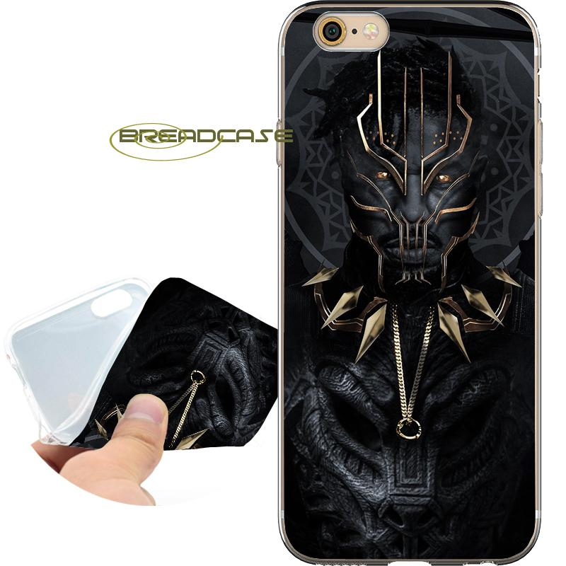 size 40 7b3a1 16ea2 Black Panther Movie Capa Clear Soft TPU Silicone Phone Cases for iPhone 10  X 7 8 6S 6 Plus 5S 5 SE 5C 4S 4 iPod Touch 6 5 Cover.