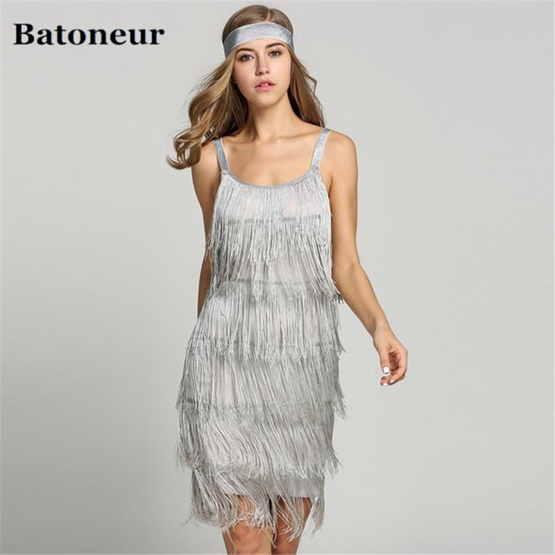 2018 Straps Summer Gatsby Women S Size Clothes Glam Women Costume Long  Clothing Party Tassels Flapper Beach Dresses Fringe Dress Gold Summer  Dresses Junior ... 7e50b68dd06d
