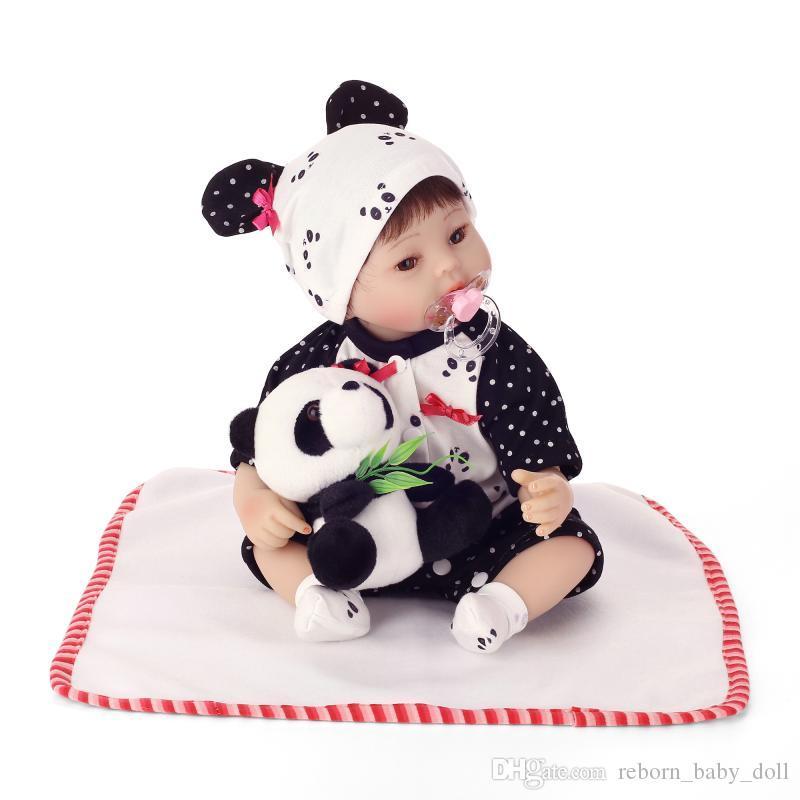 2018 nuevo diseño de la muñeca Envío gratis 20 pulgadas reborn baby doll bebé niños jugando regalos realistas vinilo suave de silicona real toque suave