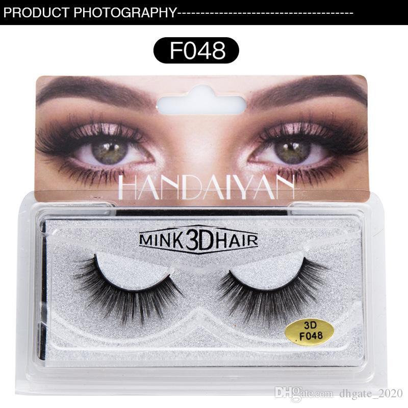 Dropshipping Nova maquiagem HANDAIYAN 3D Mink Cabelo cílios Postiços 6 Estilos Handmade Beleza Grosso Longo Suave Mink Lashes Pestana