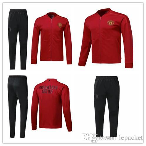 385695b40 2019 Top 2018 19 Manchester United Tracksuit Survetement VESTE SET POGBA  Football JACKET Kit Soccer Chandal LUKAKU Full Jscket Pant Sweater Suit  From ...