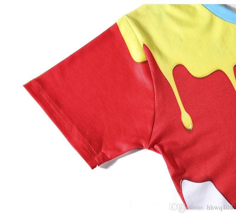 Neue Sommer Design t-shirt Personalisierte Ölfarbe 3D Print Kurzarm T Männer Frauen Baumwolle Casual Tops Plus Größe Hemd BLG0508