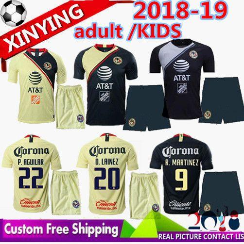 bc22384bb 2019 18 19 Adult KIDS LIGA MX Club America Soccer Jerseys KIT 2018 2019  MATHEUS O.PERALTA I.RENATO C.DOMINGUEZ MEN Football Shirt From  Xinying131129, ...