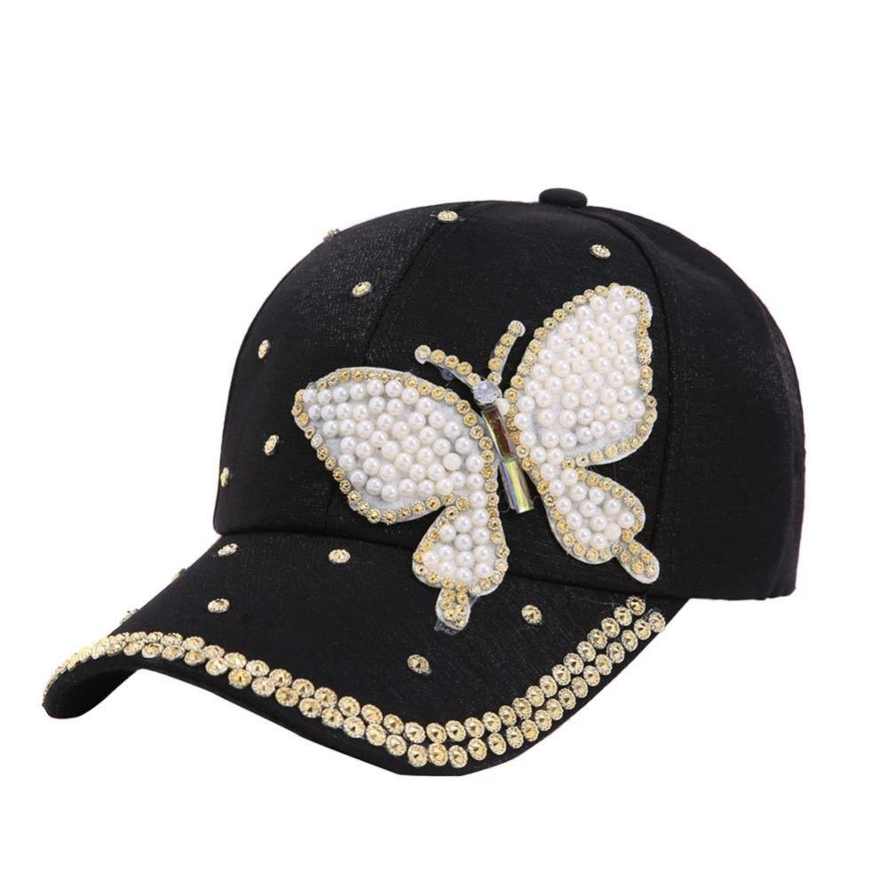 2018 Glitter Butterfly Ponytail Baseball Cap Women Snapback Hat Summer  Messy Bun Mesh Hats Casual Adjustable Caps Drop Shipping Cheap Hats  Richardson Caps ... 2e20397f44f