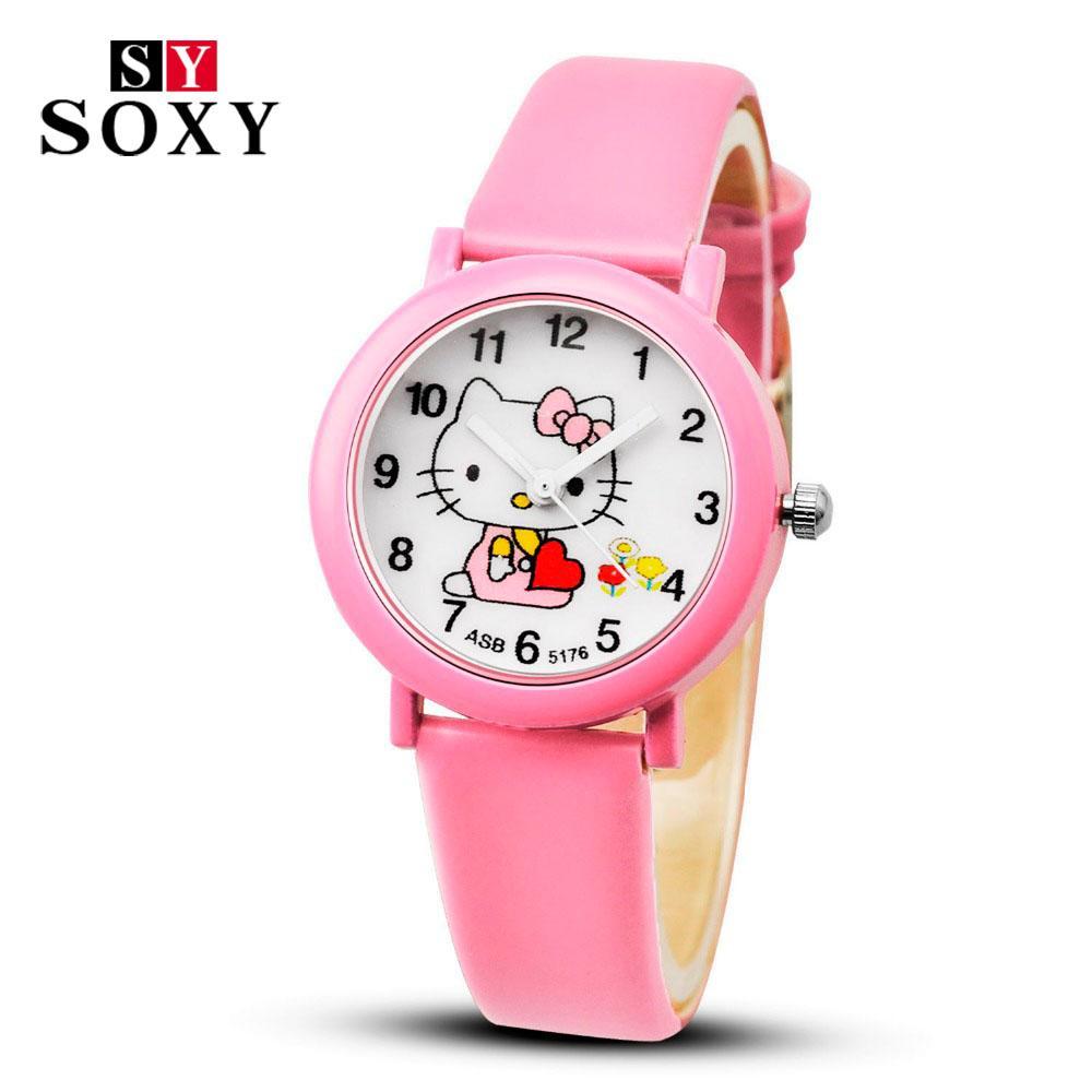 Watches 2018 Fashion Cartoon Butterfly Watches Kids Girls Steel Straps Quartz Wrist Watch Cute Clock Watch