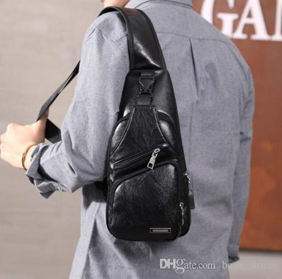 ace324f60886 Fashion Men Chest Bags Casual Backpack Multifunction Crossbody ...