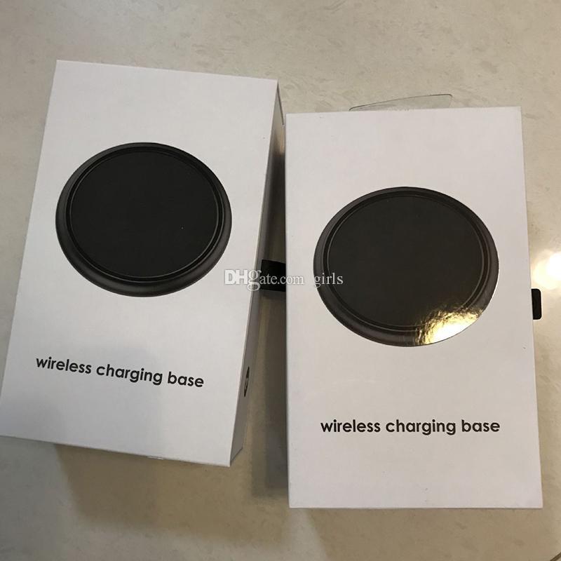 Base di ricarica wireless 7.5W QI iPhone X 8 iPhone8 Plus Pad di ricarica universale telefoni con ricarica wireless Nero Spedizione veloce