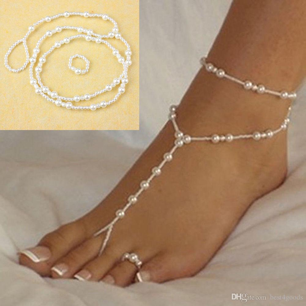 Online Cheap Fashion Wedding Foot Chain Jewelry Anklet Chains Women