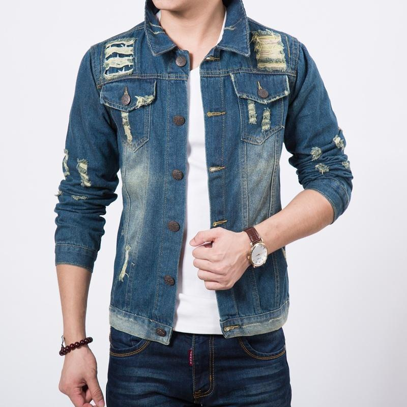 Men's jackets denim jacket teen autumn jacket shirt
