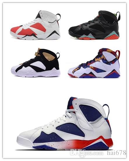 f846a269c908 New 7 Men Basketball Shoes UNC Pantone University Blue Tinker Alternate  Olympic Hares Bordeaux Cigar Cardinal French Blue GMP Sneakers Athletic Shoes  Shoes ...