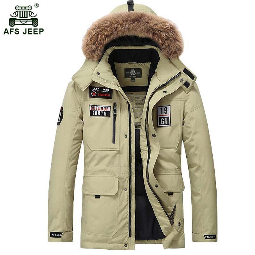 5f72f7b82169 2019 2017 New Long Winter White Duck Down Coat With Fur Hood Men S Clothing  Casual Jackets Thickening Parkas Male Big Coat 265wy From Ladylbdcloth