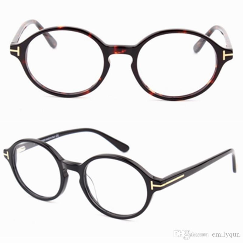 112726236f5 2019 Spectacle Frames Brand Designer Eyeglasses Frame With Clear Lens Optical  Glasses Frames Round Retro Myopia Eyeglasses For Men Women With Box From ...