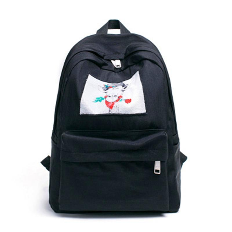 424eaace59 Fashion School Bags Backpack Women College Wind Shoulder Summer New Hit  Color Backpack Travel Ladies Couple Models Backpacks Leather Backpacks One  Strap ...