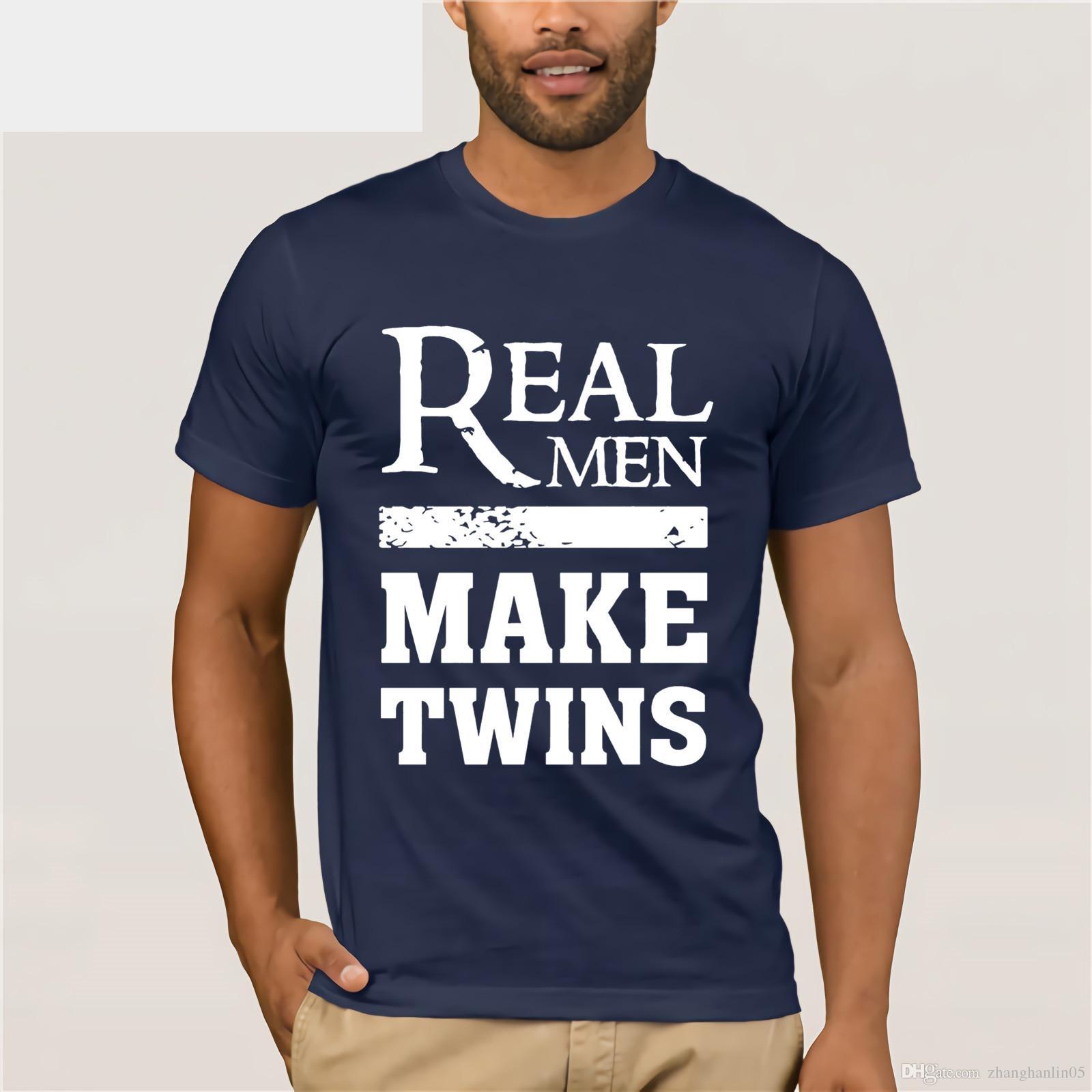 bea4fe41 Real Men Make Twins Proud Twin Father Dad T Shirt Women'S T Shirt ...