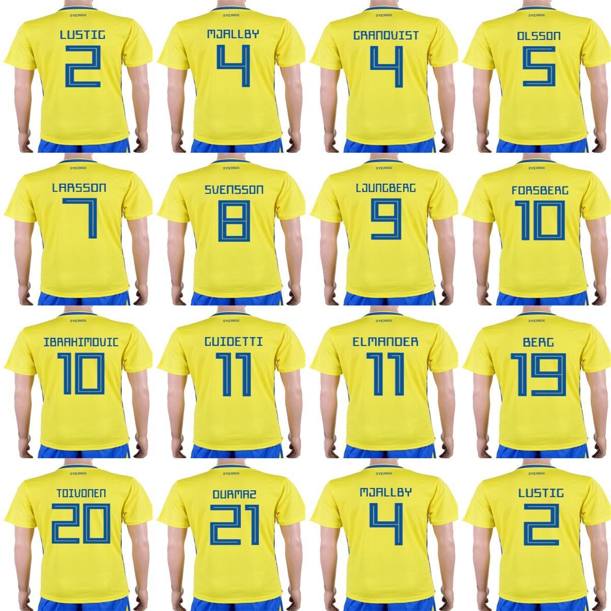 4601cbf73 Cheap Mens Womens Kids Custom 2018 World Cup Sweden Soccer Jerseys 4 ...