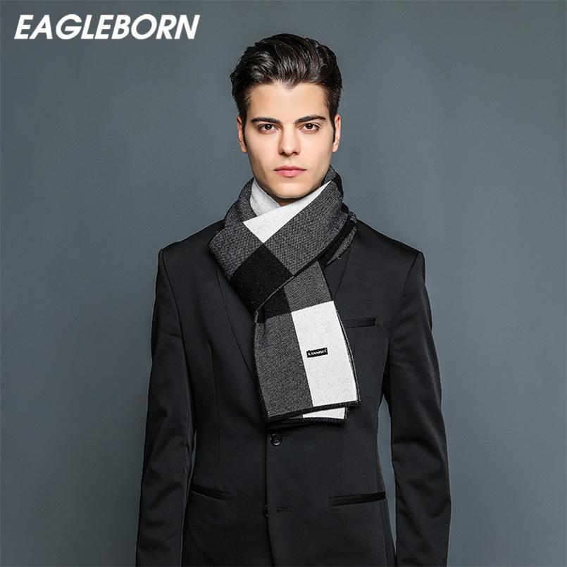 Großhandel Eagleborn Luxus Männer Schal Schalldämpfer Business Style