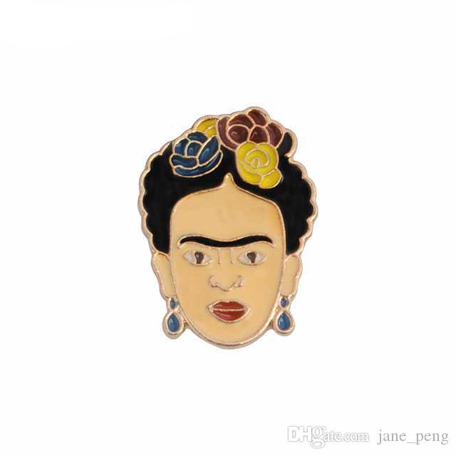 17acfc17e91 Acquista Frida Kahlo Spilla Pin Donna Uomo Bambini Camicia Zaino ...