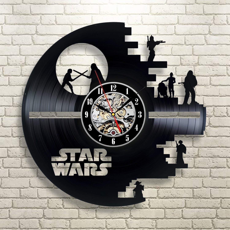 diy geschenk fur wanduhr modern design vinyl cd rekord wanduhr mit happy halloween uhren kunst wohnkultur