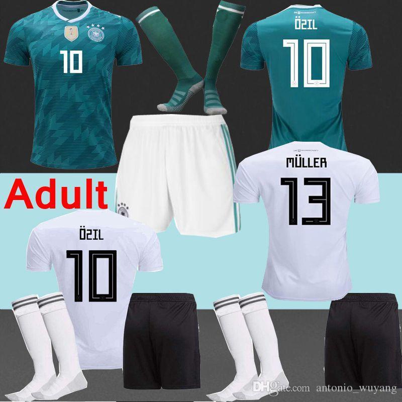 2019 TOP Best 2018 Deutschland Jersey+Short+Socks Germany Soccer Jerseys  Hummels MULLER Alemanha Soccer Shirt OZIL KROOS GOTZE Football Uniforms  From ... 624bf188b16cf